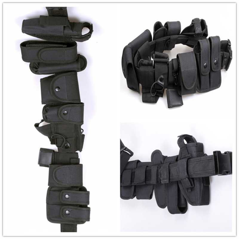 Police Patrol System With Belt Pouches Holster /& Holder Black Set Ex Security