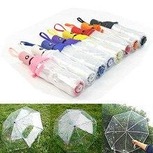 Automatic Transparent Paraguas Folding Umbrella Rain Women Men Sun Auto Compact Windproof Style Clear