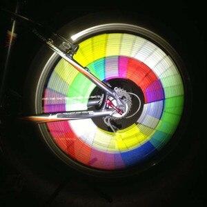 Image 5 - 12 قطعة/الوحدة دراجة الدراجة ركوب عجلة حافة تكلم جبل كليب أنبوب تحذير ضوء قطاع عاكس عاكس 75 مللي متر امان الطرق