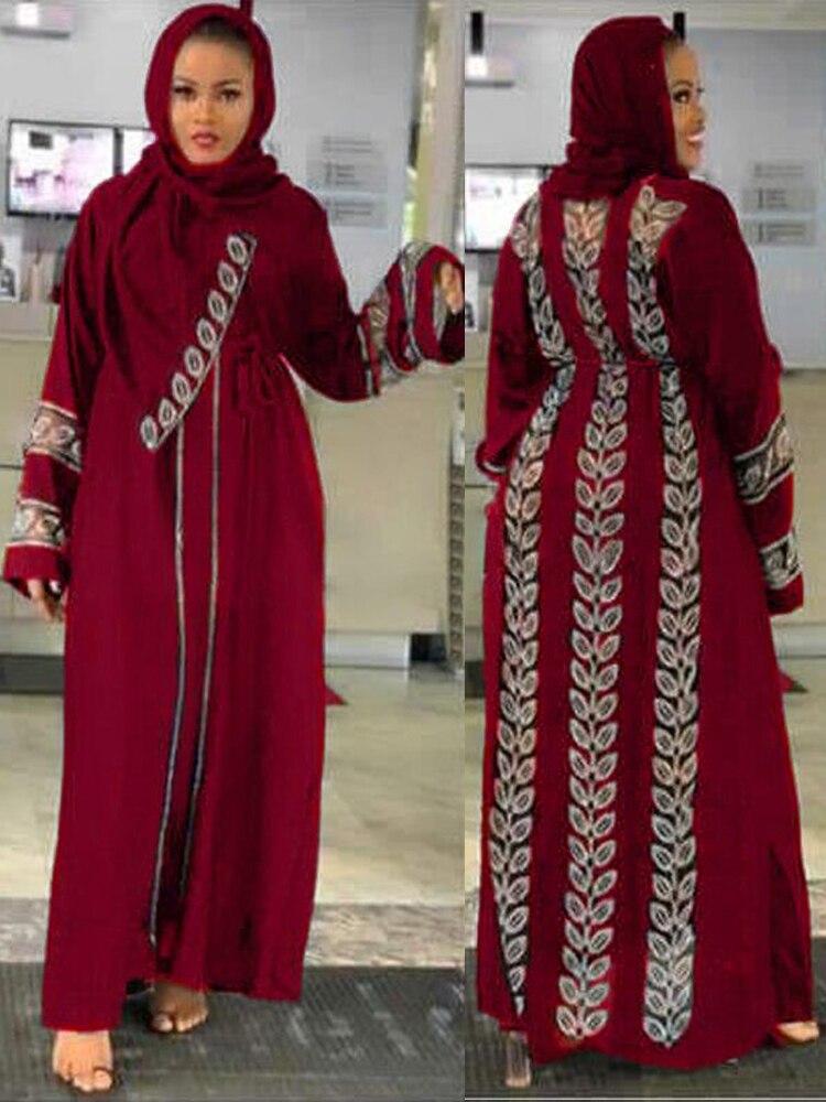 MD Dubai Caftan Robe Gown Abayas Hijab Turkish-Dresses Bangladesh Jalabiya Diamond Islam