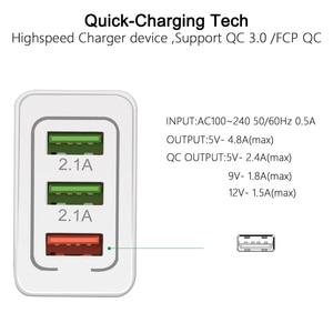 Image 3 - 5V 3A USB מטען תשלום מהיר 3.0 QC 3.0 מהיר טעינת מתאם 3 USB נייד טלפון מטען עבור iphone XR XS מקסימום X 7 8 מטענים