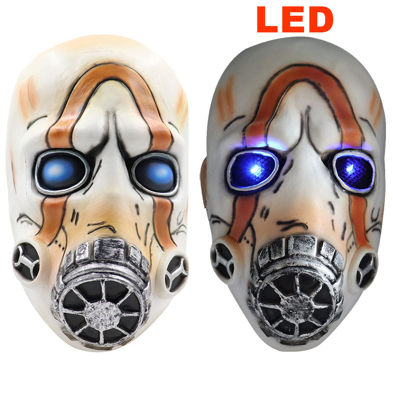 2019 New Game <font><b>Borderlands</b></font> 3 Masks ps4 Cosplay Mask Props Full Face Latex LED Light Adult Anime Costume Party Halloween Fancy image