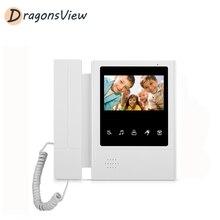 Dragonsview Video sistema de teléfono de puerta solo 4,3 pulgadas TFT-LCD interior soporte de monitor desbloqueado remoto cableado seguridad Video intercomunicador