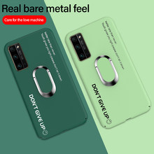 Ultra-ince renkli mat sert PC telefon kılıfı için Huawei onur 20 Mate 30 P40 P30 P20 lite Pro manyetik standı sevimli buzlu kapak