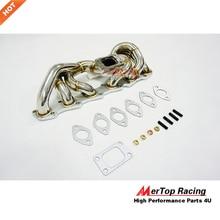 цена на MERTOP RACING 42mm STAINLESS STEEL T3 Exhaust Low Mount MANIFOLD For RB20 RB25 Skyline R32 R33 R34 RB20DET Turbo Header