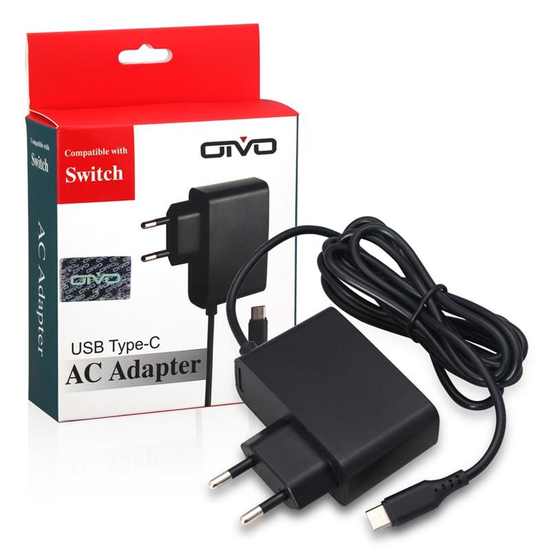 Дорожный домашний настенный адаптер переменного тока для зарядного устройства, штепсельная вилка европейского стандарта для Nintendo Switch NS Зарядные устройства      АлиЭкспресс
