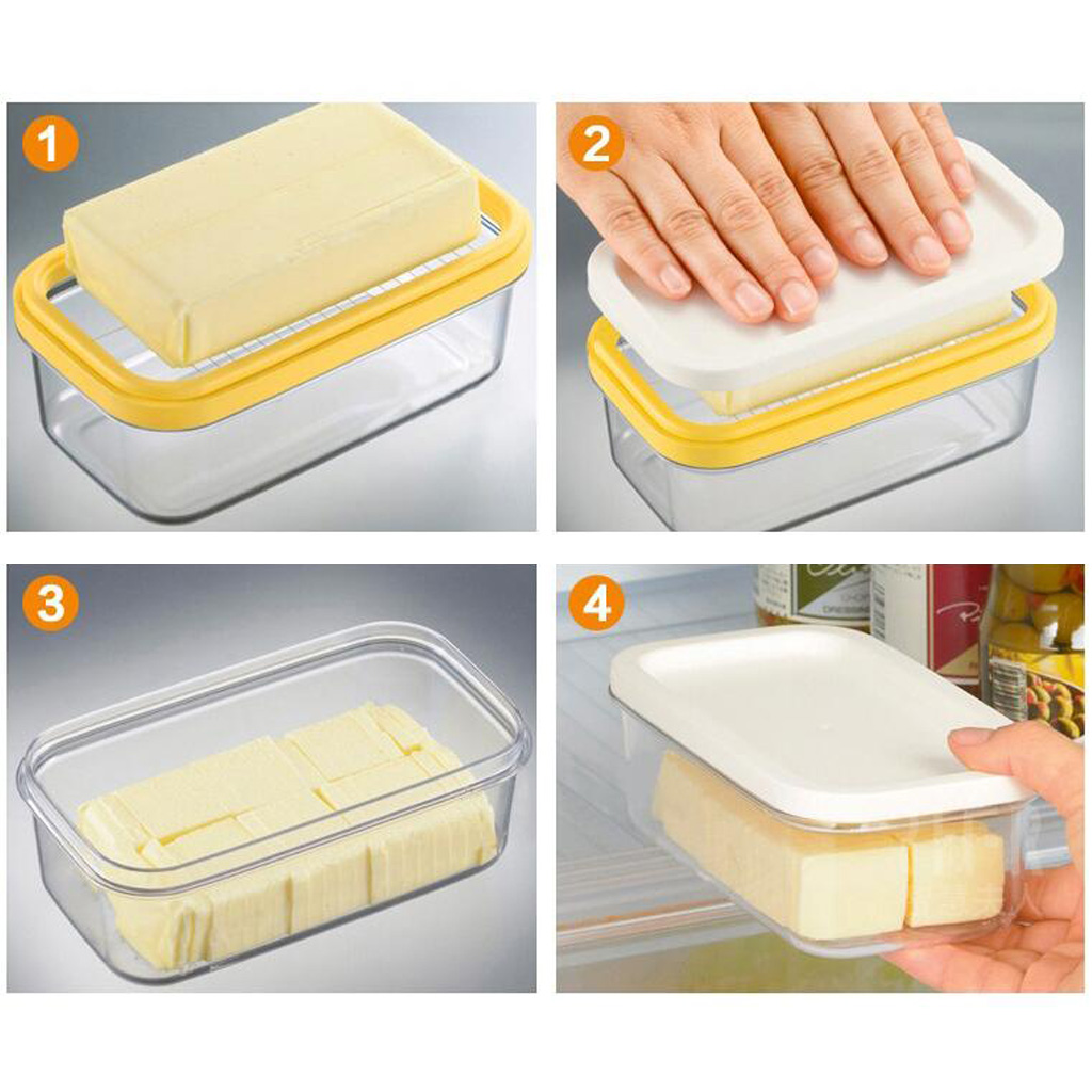 Butter Dish Clear Airtight Lid Kitchen Dinner Butter Stick Keeper Plastic|Dishes & Plates| |  - title=