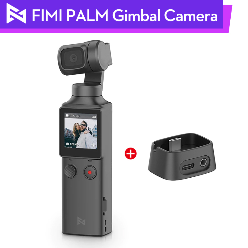 FIMI PALM Handheld <font><b>Gimbal</b></font> Charging Base Adaptor Cable 3-Axis <font><b>4K</b></font> HD <font><b>Camera</b></font> WiFi Stabilizer Touchscreen Vlog Photography image