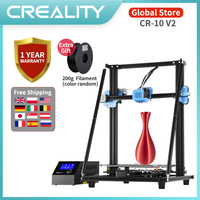 Original CREALITY CR-10 V2 3D Printer Full Metal DIY Kit Silent Mainboard Resume Print Meanwell Power Supply