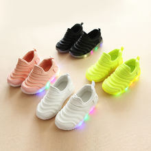 Kids Sport Running Shoes Children Sneakers Trainers Toddler Baby Boys Girls Casual Shoes with LED Light ASD88(China)