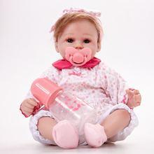 45 см силиконовая кукла для возрождения ребенка очень мягкая