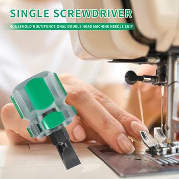 Przenośny śrubokręt z głowicą rzodkiewki narzędzia do napraw ręcznych śrubokręt z płaskim ostrzem wyczyść do ozdoby do szycia domowego matki tanie i dobre opinie alloet CN (pochodzenie) STAINLESS STEEL Slotted Screwdriver Szczelinowe Screw Driver Radish Head Flat-blade screwdriver