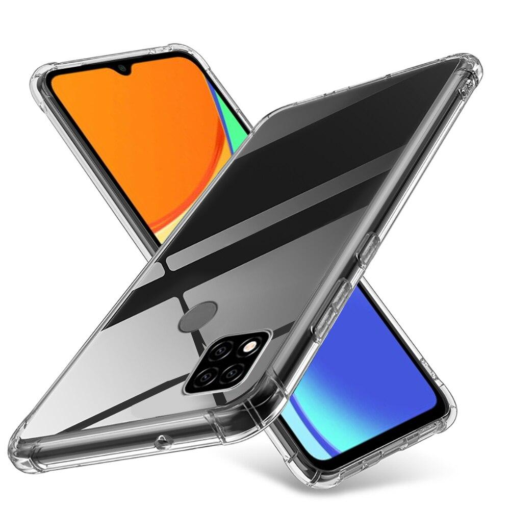 No caso redmi 9c nfc transparente à prova de choque capa traseira do telefone para xiaomi redmi 9c nfc redme readmi 9 c c9 redmi9c hd coque