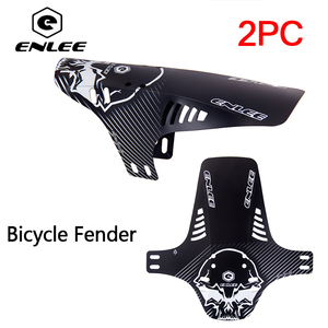 2pcsBike Mudguard MTB Bicycle Fender Front Fork Rear Wheel Fenders Enduro Mud Guard Cycling Accessories(China)