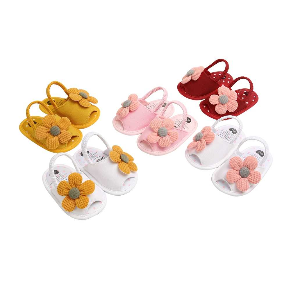 Summer Toddler Infant Kids Baby Girl Cute Casual Sunflower Princess Sandals Soft Lightweight Sandals Crib Shoes Sneakers