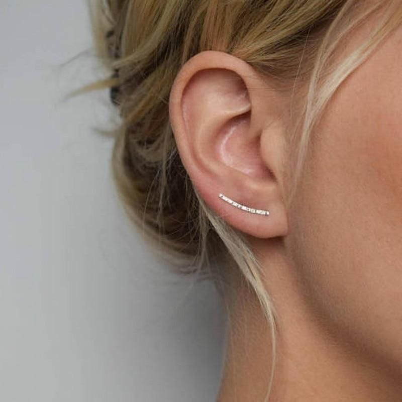 Ear Climber - Ears Crawler - Ear Cuff - Silver, Gold, Black, Ears Climber - Hammered Ear Climber - Hammered Earrings