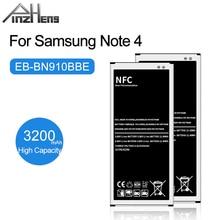 PINZHENG 3200mAh EB BN910BBE סוללה עבור Samsung Galaxy הערה 4 N910A N910V N910P N910C N910T מובנה NFC החלפה סוללה