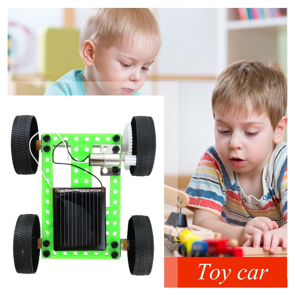1 Set Mini Solar Powered Toys DIY Car Kit Children Educational Funny Energy Puzzle Gadget Hobby Kids Gift