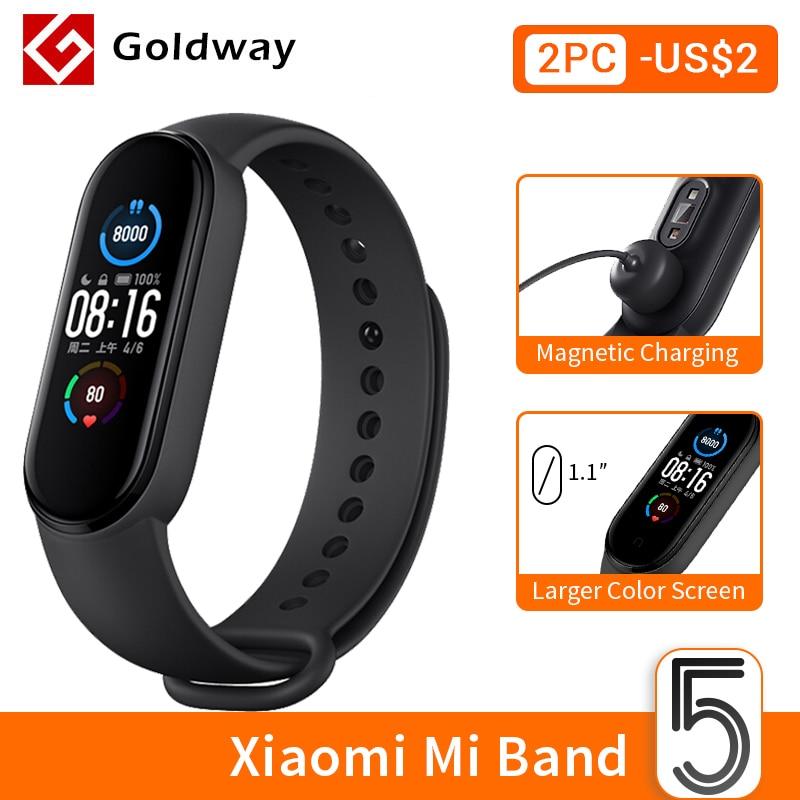 Xiaomi Mi Band 5 Smart Armband 4 Kleur Amoled Screen Miband 5 Smartband Fitness Traker Bluetooth Sport Waterdichte Slimme Band 1