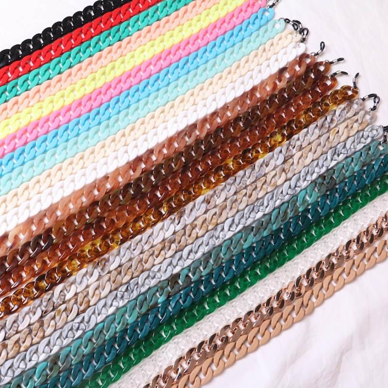 20 Colors Vintage Reading Glasses Rope Anti-slip Acrylic Eyewears Cord Holder Lanyard Hold Straps Eyewear Retainer