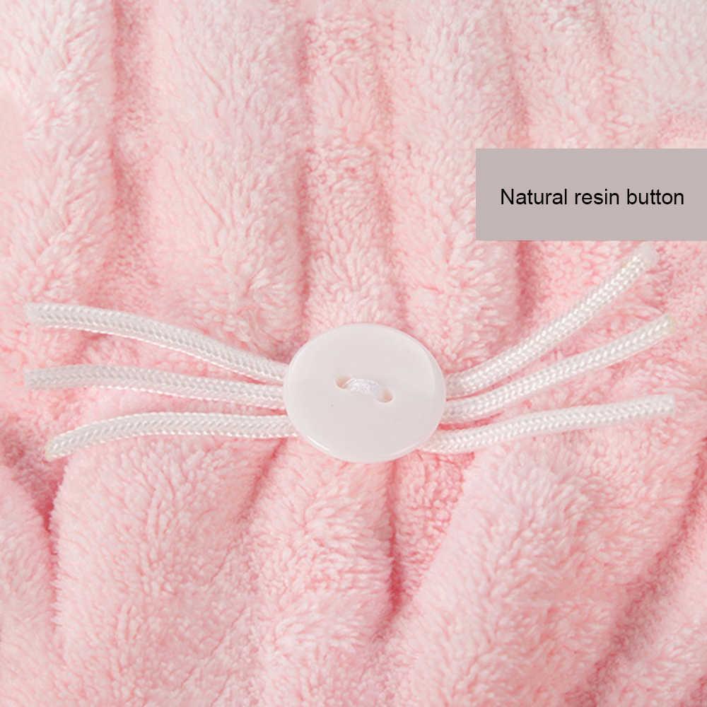 لطيف القط ستوكات الشعر التجفيف منشفة غطاء للاستحمام قوي امتصاص تجفيف طويلة لينة خاص غطاء للشعر الجاف منشفة مع المرجانية المخملية p2