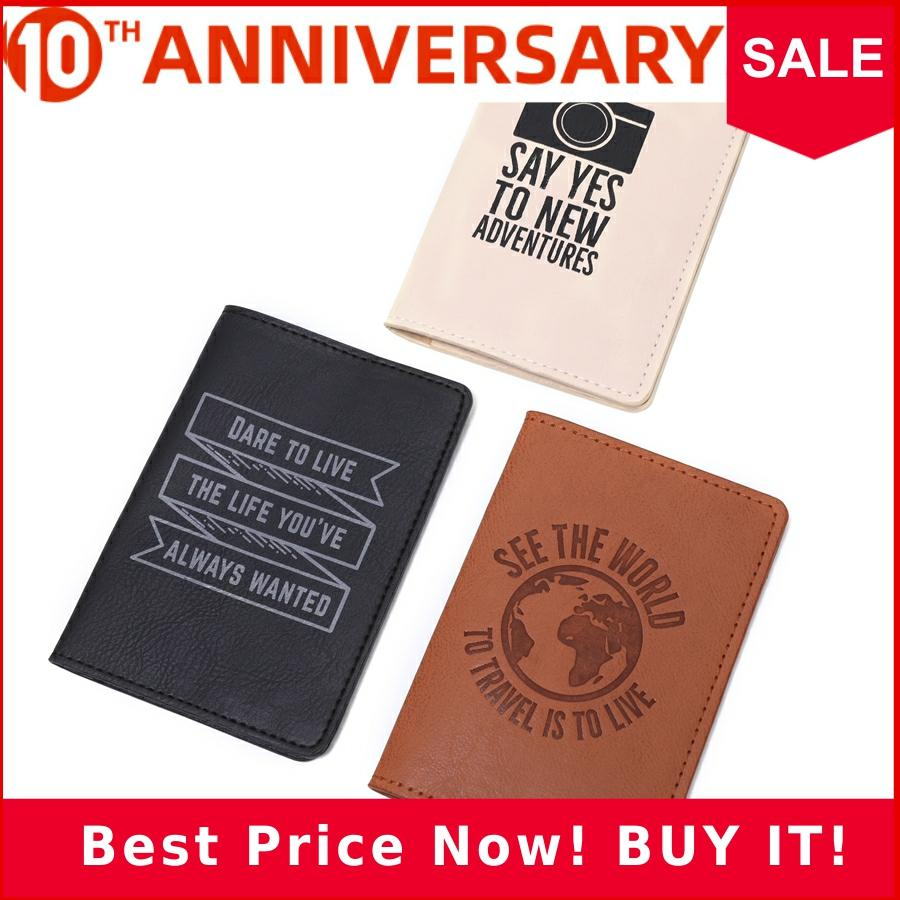 Earth See The World Travel Passport Cover Case Card Women Men Travel Credit Card Holder Travel ID Document Passport Holder CH09B