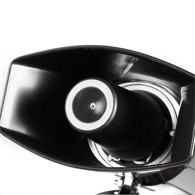 7-Geluid Luid Auto Waarschuwing Alarm Politie Brand Sirene Air Bugle Pa Speaker 12V 100W Sirene Air hoorn Megafoon Auto Hoorn 110DB 3