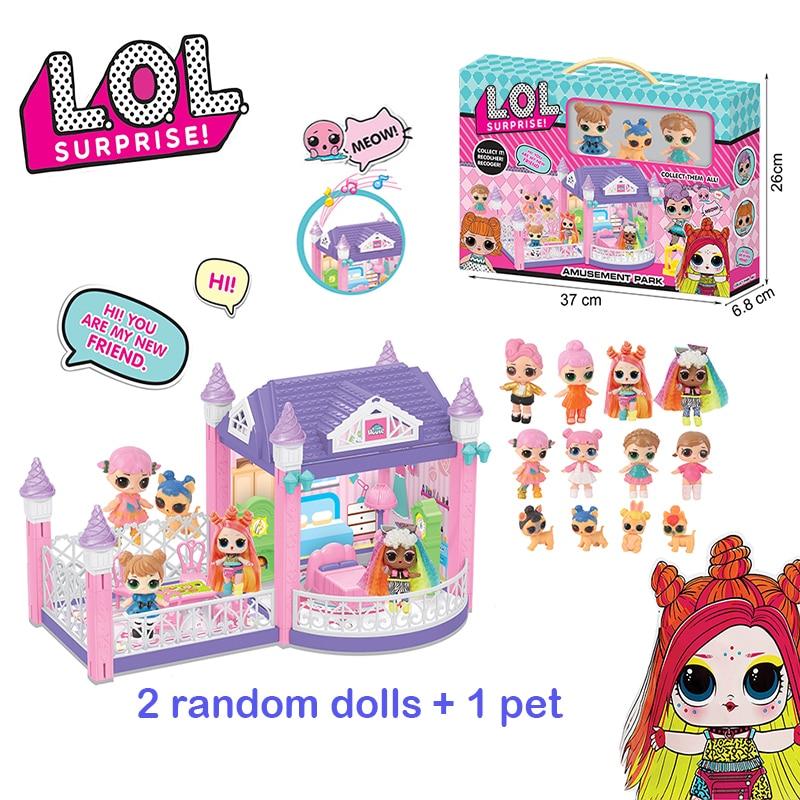 Original Lol Surprise Dolls Diy Play House Games Villa With 2