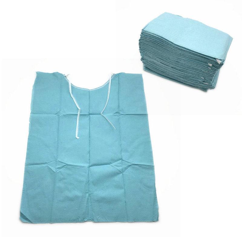 30pcs/Bag Dental Disposable Neckerchief Dental Blue Medical Paper Scarf Dental Materials