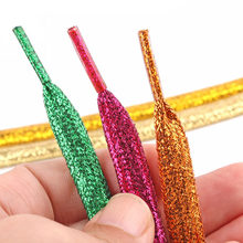 1 Pair 120cm Shiny Shoelaces Glitter Flat Sparkly Colors Shimmering Shoes Laces Unisex Flat Sport Shoe Laces Sneakers Shoelace(China)