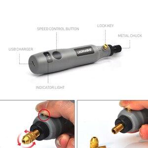 Image 3 - Mini Cordless Boor Gereedschap Elektrische 3.6V Boor Grinding Accessoires Set Draadloze Graveren Pen Voor Dremel Thuis Diy