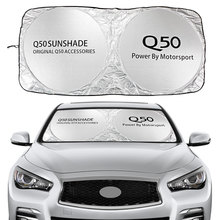 Car Windshield Sun Shade Cover For Infiniti Q50 S Hybrid L V37 Eau Rouge Auto Accessories Blocks UV Rays Sun Visor Protector