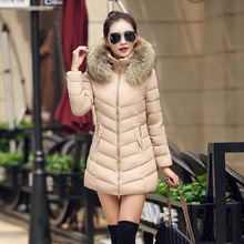 Parka Women Winter Coats Long Cotton Casual Slim Fur Hooded Jackets Women Thick Warm Winter Parkas Female Overcoat Jacket 2019 стоимость