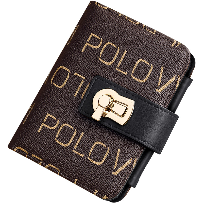 WilliamPolo Short Wallet Multi-Card Holder Simple Large-Capacity Card Holder Women's Wallet Bank Card Holder Anti-theft PVC Women Women's Bags Women's Wallets