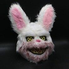 Halloween Mask Bloody Killer Rabbit Plush Cosplay Horror For Kids Adults