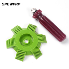 SPEWPRP Car A/C Radiator Condenser Evaporator Fin Straightener Coil Comb Air Conditioner Cleaning Tool Auto Cooling System 6 pack fin comb air conditioner fin cleaner air conditioner coil cleaner metal fin evaporator radiator repair tool