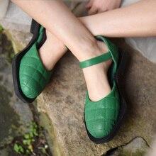 Artmu Originele Fashion Vrouwen Sandalen Vierkante Kop Sandalen Echt Leer 2021 Nieuwe Enkele Schoenen Dames Sandalen Gesp Mary Jane