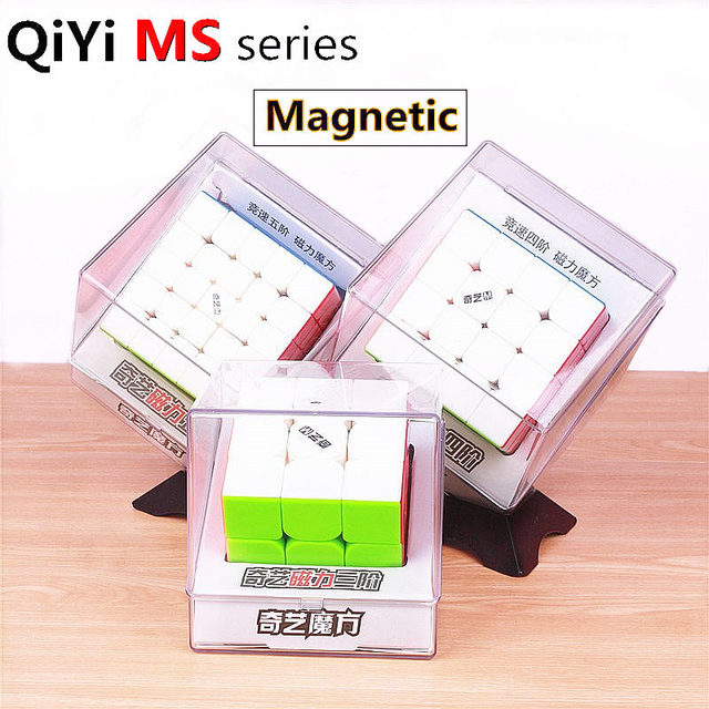 qiyi ms series 2x2x2 3x3x3 4x4x4 5x5x5 magnetic speed magic cube stickerless professional magnets 2x2 3x3 4x4 5x5 puzzle cubes 2