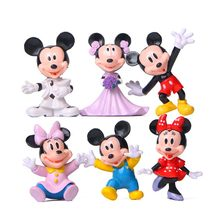 6pcs/lot Action Figures Minnie Mickey Anime Figure Toys PVC Marry Mickey Mouse Toys Gifts for Kids Children(China)