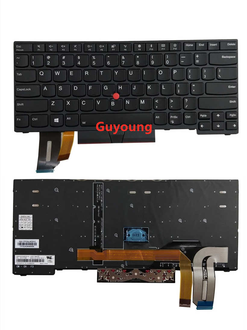 New Replacement for 01YP360 Lenovo Thinkpad T490 E490 T495 L390 L390 Yoga L490 T490 P43s US Keyboard Backlit