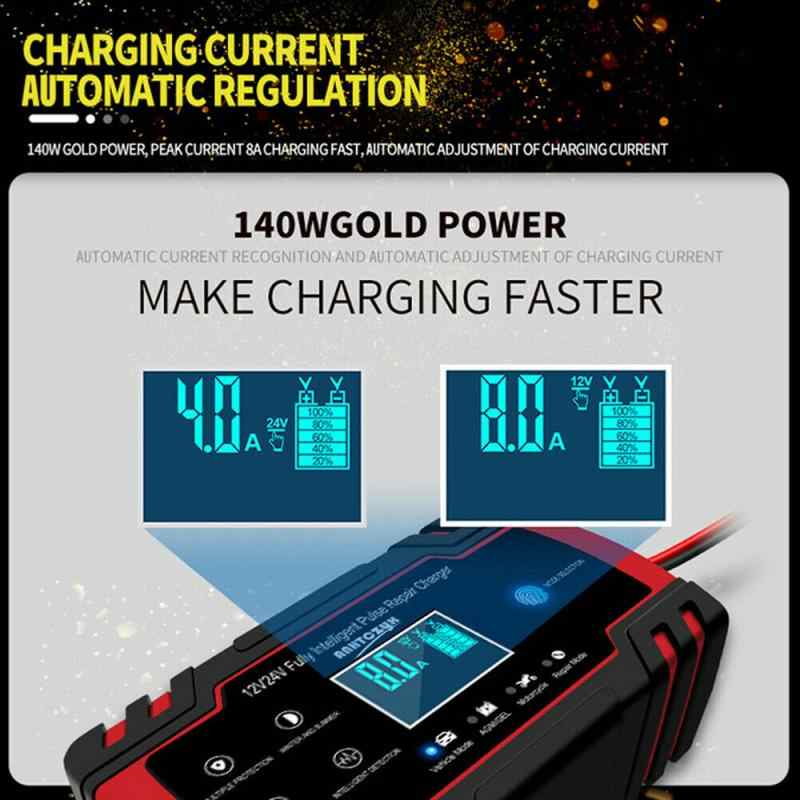 EU/US/AU/UK Plug Car Jump Starter Emergency 12V/24V Power Bank Battery Charger With LCD Display Car Motorcycle Booster Buster
