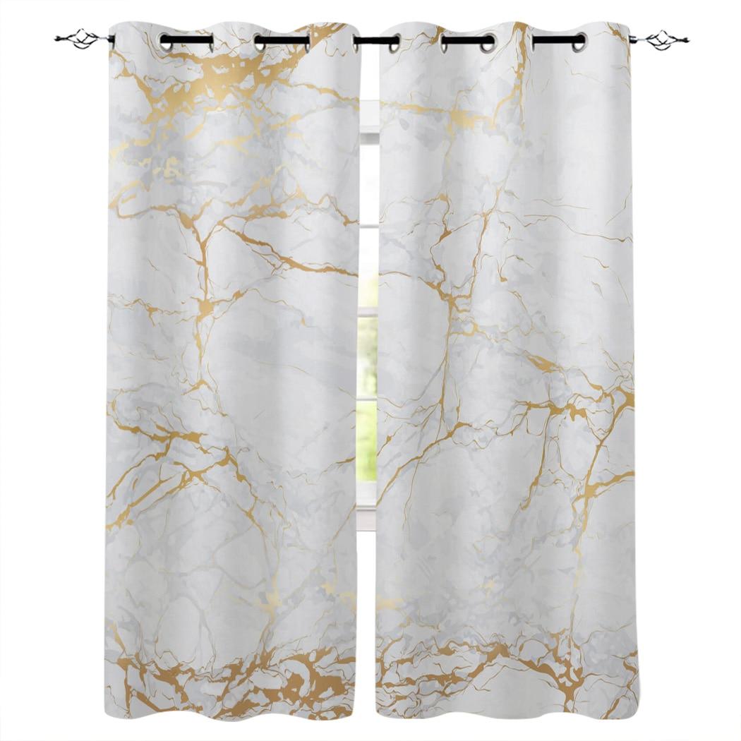 Мраморные золотые шторы с узором, для гостиной, кухни, Современный домашний декор, лечебные драпировки для спальни