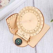 1 шт. Экваториальная Гвинея солнечные часы деревянные научно-исследовательских модель DIY учебное пособие Развивающие игрушки для детей