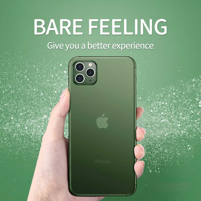 0,2mm Ultra delgado duro caso suave para iPhone 11 Pro X Xr Xs Max mate PP cubierta trasera de plástico para iPhone SE 2 6S 6 7 8 Plus iPhone11
