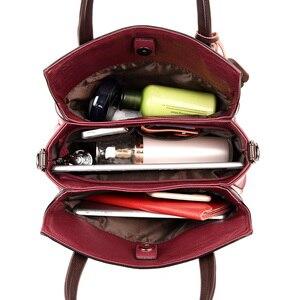 Image 5 - 3 メインバッグレディースハンドバッグ女性 2020 デザイナーハンドバッグ高品質本革の高級ハンドバッグ女性のバッグ嚢メイン