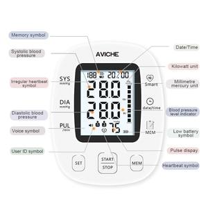 Image 3 - AVICHE Professionalเครื่องวัดความดันโลหิตอัตโนมัติแบบดิจิตอลBacklitจอแสดงผลLCD Talkingอุปกรณ์การแพทย์Sphygmomanometer