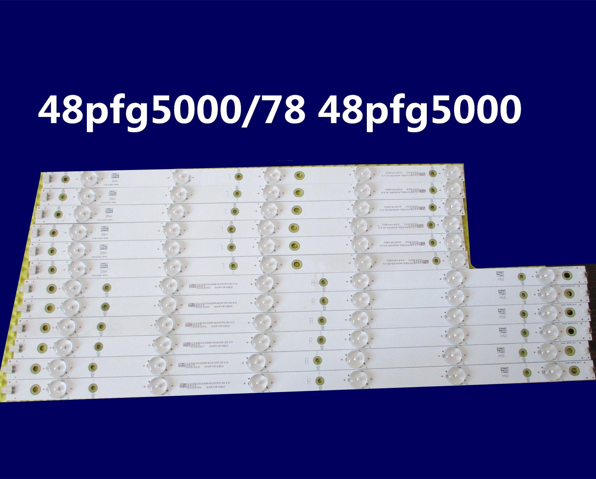 Luz led para tv aoc le48d1452 para p hilips modelo 48pfg5000 48pfg5100