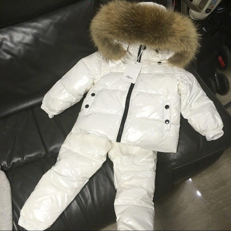 Boy Winter Ski Suits 2020 90% White Duck Down Jacket Girl Suit Overalls Childrens Sportswear Baby Fashion Clothing Waterproofchildrens sportsweargirls suitsclothing fashion -