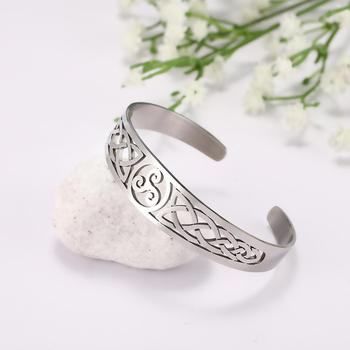 Bracelets manchette Viking Lemegeton noeud irlandais Bracelet noeud celtique hommes femmes amulette bijoux Talisman Bracelet acier inoxydable (Copie) 7