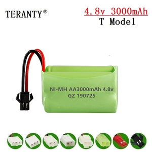 ( T Model ) 4.8v 3000mah NiMH Battery For Rc toys Cars Tanks Robots Boats Guns 4.8v Rechargeable Battery 4* AA Battery Pack 1Pcs(China)